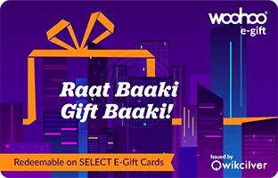 Flat 10% OFF on Woohoo Midnight Series E-Gifts